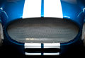 Detail of Grille of Blue and White Striped car Royalty Free Stock Photo