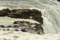 Detail of Gullfoss Golden Falls waterfall at Hvita river Royalty Free Stock Photo