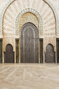 Detail of hassan ii mosque one the beautiful doors the in casablanca Royalty Free Stock Image