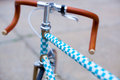 Detail of hipster bike Royalty Free Stock Photo