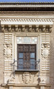 Detail of a Historic Building's Exterior in Granada Royalty Free Stock Photo