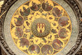 Detail of the historical medieval astronomical Clock in Prague on Old Town Hall Royalty Free Stock Photo