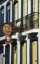 Detail of a house in Ouro Preto, Brazil.