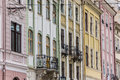 Detail of houses at the market square of lviv ukraine Stock Photography