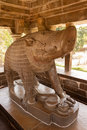 Detail incarnation of vishnu as a boar varaha the metal statue the khajuraho india Stock Photo