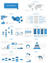 Detail infographic set illustration world map and information graphics Stock Photos