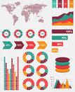 Detail infographic world map graphics vector illustration and information Royalty Free Stock Image