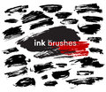 Detail ink brush paint stroke. Vector illustration Royalty Free Stock Photo