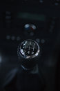 Detail interior of modern auto. Gear shift in car. Royalty Free Stock Photo