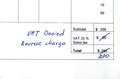 Detail invoice total amount changed incorrect vat reverse charge Stock Photos