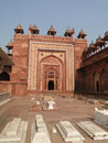 Detail, Islamic  decorations on red sandstone Stock Photos