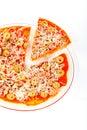 Detail of Italian pizza Stock Photos