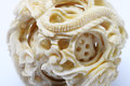 Detail of ivory sculpture Royalty Free Stock Photo