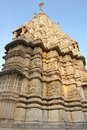 Detail of the jagdish temple in udaipur india at evening time Stock Photography