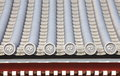 Detail of japanese temple roof Royalty Free Stock Photo