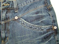 Detail of a jeans trouser pocket Royalty Free Stock Images