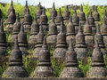 Detail of the Koe-thaung Temple in Mrauk U, Myanmar Royalty Free Stock Photo