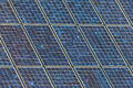 Detail of a large wall of solar panels Royalty Free Stock Images