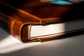 Detail of a leather photography album cover Royalty Free Stock Photography