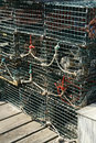Detail, Lobster traps Stock Photos