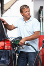 Detail Of Male Motorist Filling Car With Diesel Royalty Free Stock Photo