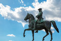 Detail of maria theresa monument in maria thesienplatz vienna austria background with place for text man on horse the on the Royalty Free Stock Photography