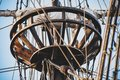 Vintage and retro details of old sailing boats during a Sail eve Royalty Free Stock Photo