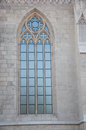 Detail from matthias church of a window budapest hungary Royalty Free Stock Photography