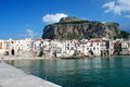 Detail of the medieval cathedral in Cefalu, Sicily Royalty Free Stock Photography