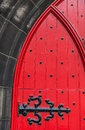 Detail of a medieval door in a church Royalty Free Stock Photo