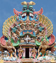 Detail of Meenakshi temple in Maduray - India Stock Photo