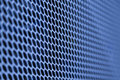Detail on the metal grille blue pc with selective focus Royalty Free Stock Photography