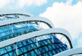 Detail of a modern building made of glass Royalty Free Stock Photo