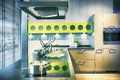 Detail of modern kitchen interior in contemporary style Royalty Free Stock Image