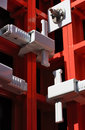 Detail of modular formwork. Stock Photos