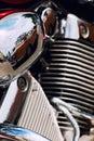 Detail of motorbike Royalty Free Stock Photo