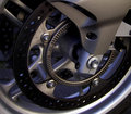 Detail motorcycle brake disc Royalty Free Stock Photography