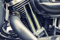 Detail of motorcycle engine Royalty Free Stock Photo
