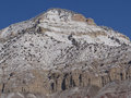 Detail mountain peak winter near grand junction colorado Royalty Free Stock Photography