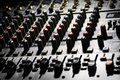 Detail music mixer desk various knobs Royalty Free Stock Photography