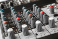 Detail of a music mixer in studio see my other works portfolio Royalty Free Stock Image