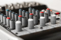 Detail of a music mixer in studio see my other works portfolio Royalty Free Stock Photography