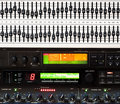 Detail of music mixing console Royalty Free Stock Photo
