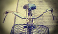 Detail old bicycle vintage style Royalty Free Stock Photo