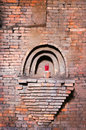 Detail of an old brick warehouse Royalty Free Stock Photo