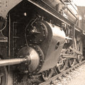 Detail of an old-fashioned steam locomotive Royalty Free Stock Photo