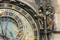 Detail of old prague clock Stock Photo