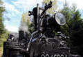 Detail of old steam locomotive Royalty Free Stock Photo