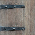 Detail of an old wooden door Royalty Free Stock Photo