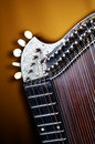 Detail of old zither instrument Royalty Free Stock Photography